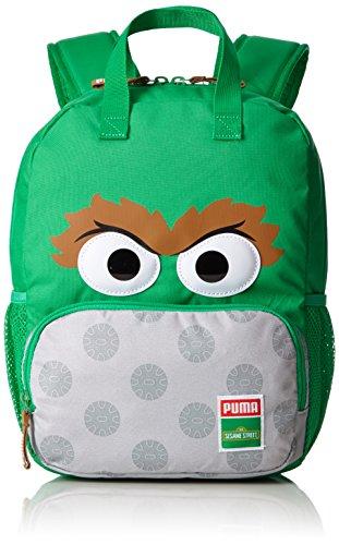 Puma Kinder Sesame Street Backpack Rucksack, Bright Green-Oscar, 29 x 36 x 3 cm