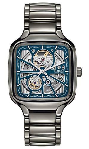 Rado True Square Swiss Automatic Watch with Ceramic Strap, Silver, 21 (Model: R27083202)