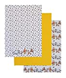 Licensed Disney Winnie The Pooh 3 Pack Tea Towels 100% Cotton
