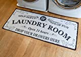 Benissimo Laundry Room Rug, Non Skid Rubber Area Rugs, Cotton, Durable, Machine Washable, Runner Floor Mat for Washroom, Bathroom, Mudroom, Kitchen Decor, 24x56-DRAW