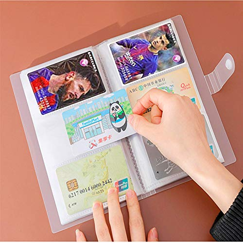 Kpop Photocard Sleeves,Business Card Book Holder, Photocard Album,Card Protectors Sleeve Pages,Transparent, Portable, for Baseball Cards,Game Cards,240-Cards