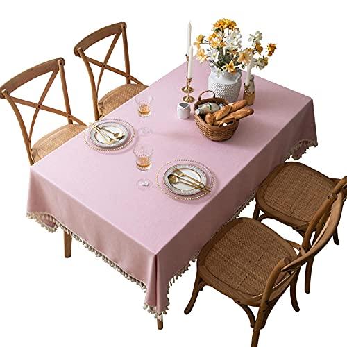 Manteles Mantel al Aire Libre Mantel de Escritorio Rosa Color sólido Su Mesa de té Mesa de Comedor fabric-60 * 60cm