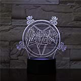Lámpara de ilusión 3D Led Night Light Group Slayer Logo Sensor táctil USB Hoom Room Decorativo Niño Niños Baby Set Lámpara de mesa Dormitorio