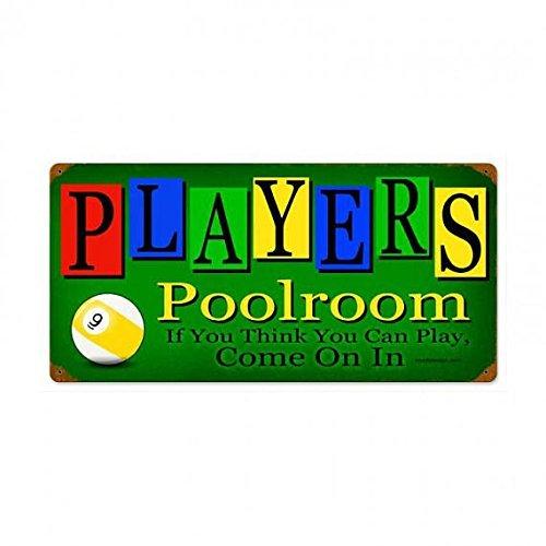 Norma Lily Vintage Metallschild Spieler, Poolroom Billard Pool Hall 12x16 Man Cave.