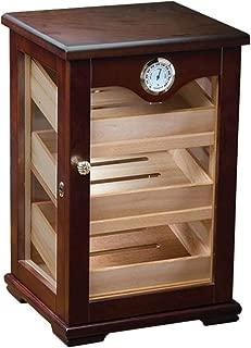 Prestige Import Group Counter Top Display Mahogany Display Cigar Humidor - 125 Capacity