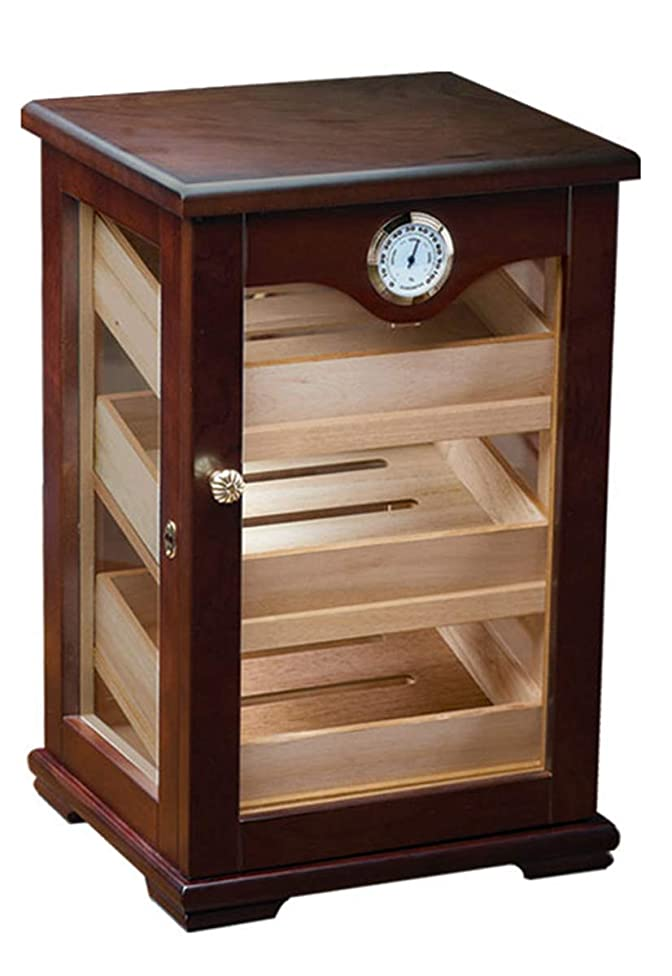 Prestige Import Group - The Milano Countertop Display Cigar Humidor - Color: Mahogany