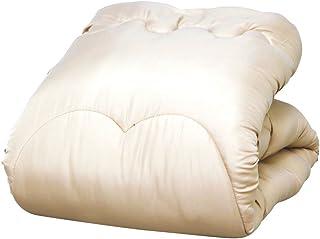 アイリスプラザ 掛け布団 洗えて清潔 抗菌 防臭 蒸れにくい 放湿性 丸洗い ホコリ出にくい 軽量 なめらかな肌触り 保温性 年中使える 収納ケース シングル アイボリー