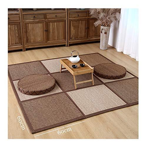 JIAJUAN Natürlich Bambus Bodenmatte rutschfest Faltbar Bereich Teppich Japanisch Sommer- Natürlich Teppiche zum Wohnzimmer Schlafzimmer, 15mm Dick, Anpassbar (Color : A, Size : 180x300cm)