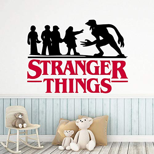 WSYYW New Stranger Things Decal Vinyl Wallpaper for Baby Room Decor Wall Sticker Children Room Decals Mural A2 36cmX41cm