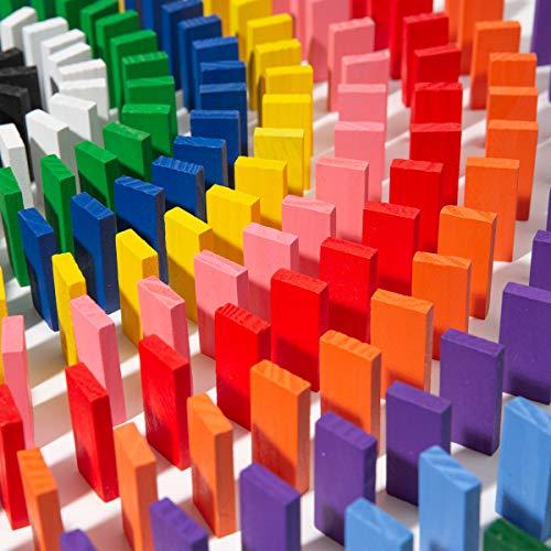 Kits de bloques de construcción de madera de dominó coloridos de 240 piezas, juego de carreras de apilamiento, juguetes educativos de carreras para niños y adultos