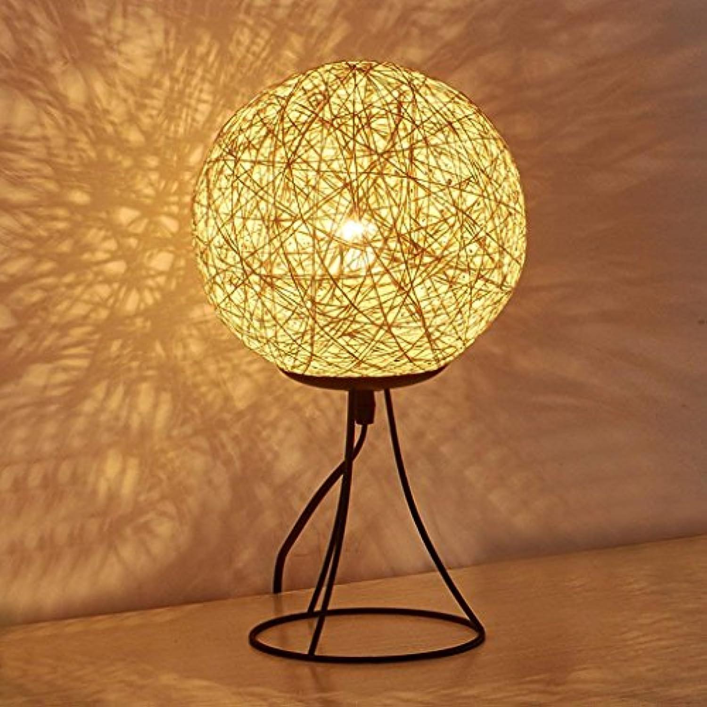 RBB Schlafzimmer Nachttischlampe, Beige Leinen Ball Tischlampe, Moderne Einfache Kreative Mode Nachtlicht, Schlafzimmer Wohnzimmer Studyroom Kinder 'S Tischlampe