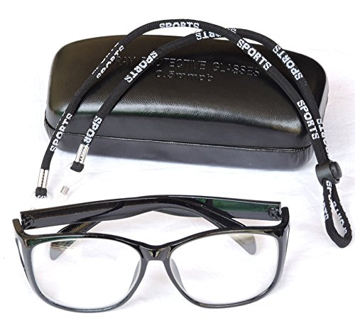 HealthGoodsIn - Radiation Protection Lead Eye Glasses | Radiation Safety Glasses with Permanent Side Shields | X-ray Radiation Protection Glasses