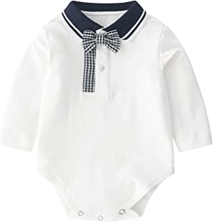 الوليد للجنسين الطفل الصلبة رومبير نيسيس طويلة الأكمام ارتداءها الملابس لفتاة الرضع الصبي (Color : White, Size : 66CM)