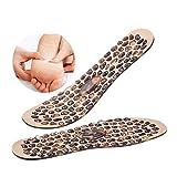 Einlegesohlen für Plantarfasziitis 1Pair Cobblestone Massage-Einlegesohlen for Männer Frauen weiche Gummi Therapie Akupressur-Fuss-Auflage, Gewicht zu verlieren Schuhe Insert Füße Einlegesohle Einlege