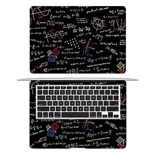 Math Formula Scrawl Laptop Sticker for Macbook Decal Pro 16' Air Retina 11 12 13 15 inch HP Mac Book Notebook Full Cover Skin,AC side,Retina 13 inch