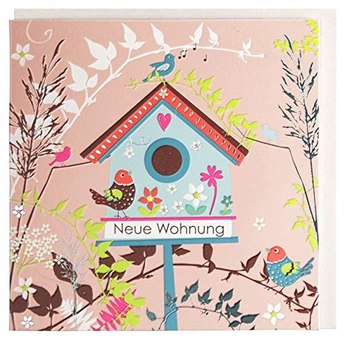 Glückwunschkarte zum Einzug Neue Wohnung Vogelhaus