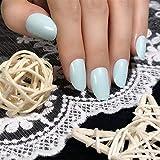 YQSL Uñas postizas Oval Faux s Court Impresionar Presione en uñas postizas Pops Plásticos artificiales Short Bling False fFnger Nails con etiqueta