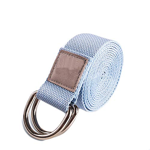 YXXSJB Yoga Stretchbänder Doppelringe Spanngürtel Verdickt Zuggurt Fitnesszubehör für Das Training Blau 183 * 3.8cm