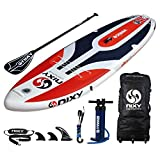 "NIXY Venice Paddle Board Inflatable Cruiser SUP 10'6' x 34"" x 6"" Ultra-Light Stand Up Paddleboard built with Dual Layer Dropstitch Includes Paddle, Leash, Pump, Shoulder Strap, Bag"