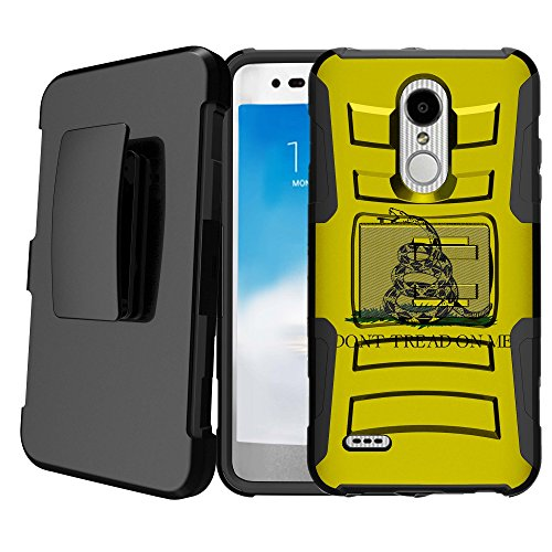 Untouchble   Compatible with LG Stylus 4, LG Stylo 4 Kickstand Case [Heavy Duty] Holster Case Combo with Dual Layer Case Built in Kickstand - Dont Tread On Me