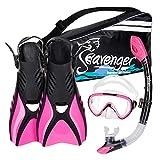 Seavenger Diving Snorkel Set - (Pink) - M