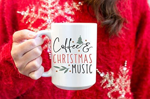 Taza de café con música navideña – Tazas de café de Navidad – Tazas de Navidad – Taza de música de Navidad