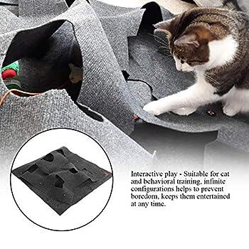 Delaman Emploi de Jouets pour Chats - Tapis de Jeu Tapis d'exercice interactif Cats, Gris foncé