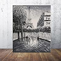 CHBOEN キャンバス絵画家の装飾 壁画ポスターと版画ロンドンストリートビューパリモダンナイフオル絵画キャンバスプリントポスター写真家の装飾 60x90cm(23.6x35.5インチ)