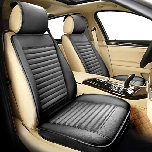 Sunny color 2pc Filling Bamboo Charcoal Edge Wrapping Car Front Seat Cushion Cover Pad Mat for Auto...