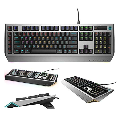 (Renewed) Dell Alienware Pro Gaming Mechanical Keyboard AW768 with Gaming Palm Rest AW168 - Magnetic Connection - Supports Alienware Keyboard AW568 & AW768