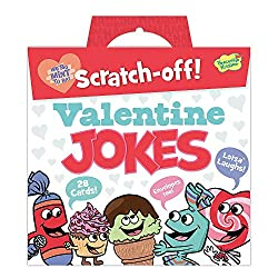 Valentine jokes scratch-off cards