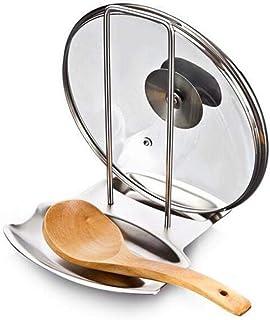 1 pièces accessoires de cuisine en acier inoxydable couvercle de pot étagère organisateur de cuisine couvercle de la casse...