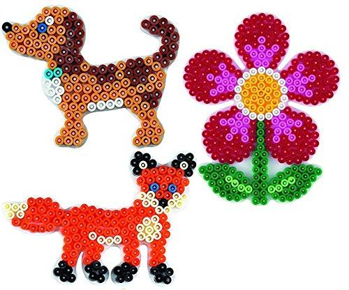 Hama Happy Price Toys (Set 68) Midi Stiftplattenbeutel Kleiner Hund ,Fuchs und Blume - im Blister Beutel