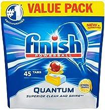 Finish Quantum Max Dishwasher Tablets, Lemon Sparkle, 1 x 45 (45 Tablets)