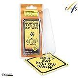 Don't Eat Yellow Snow Snowboard/Ski Wax from Deys (Graphite) - Free Plexi Scraper. Gift Ready Combo