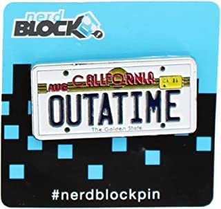 Back to the Future Outatime License Plate Pin