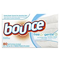 Bounce Fabric Softener Sheets, Free, 80 sheets by Bounce