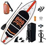 XIGG Tabla Paddle Surf Hinchable, Tabla de Sup Board Stand Up 335x84x15cm Sup Surf Paddleboard, Bomba de Aire, Mochila de Transporte, Kit reparación