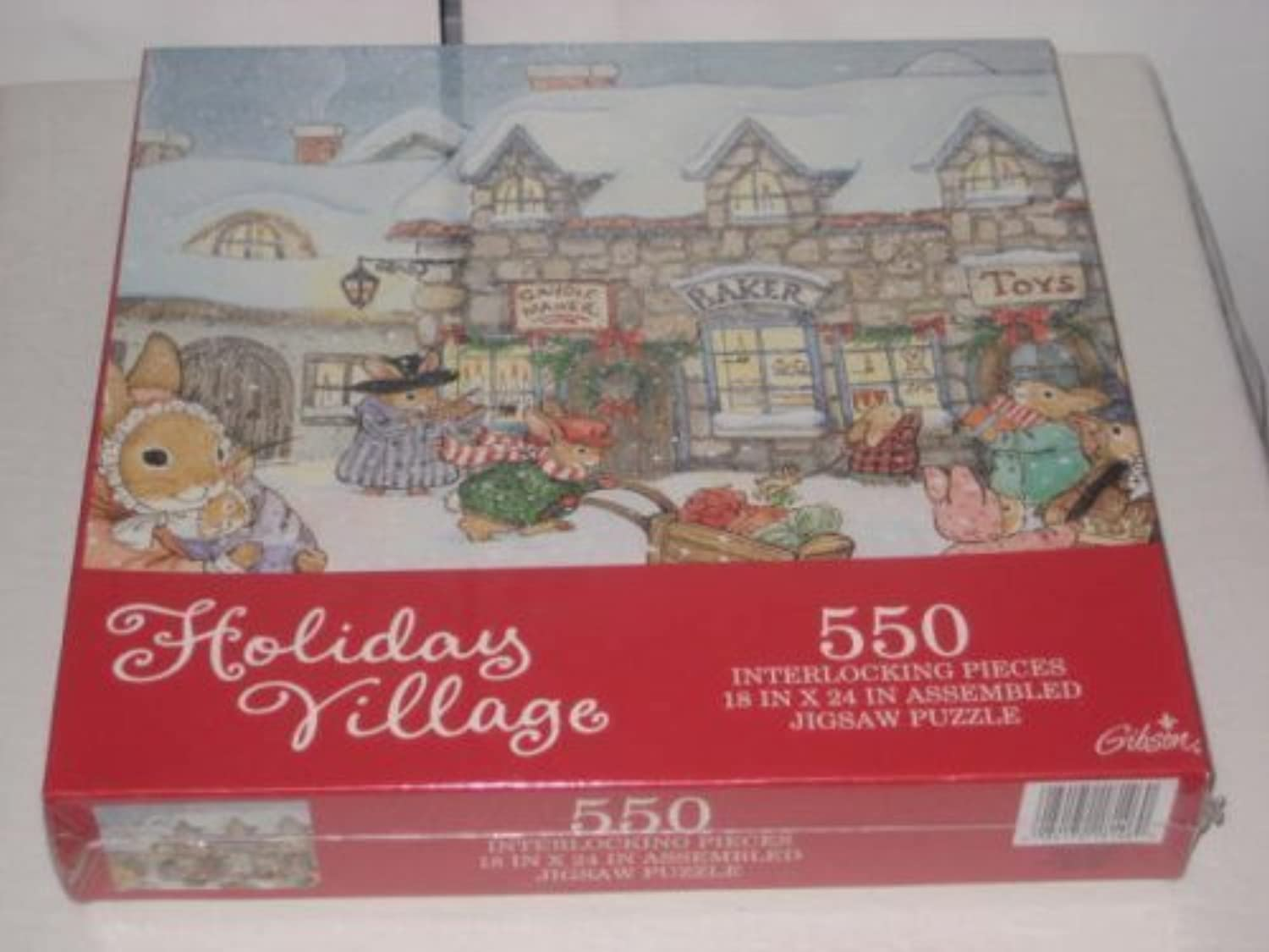 Holiday Village 550 Interlocre Pieces Jigsaw Puzzle by Gibson
