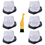 LGLR 6 Pack Dust Cup Filters Replacement Kit for Shark Cordless Hand Vac SV780 SV75Z SV728N SV726N,Replace...