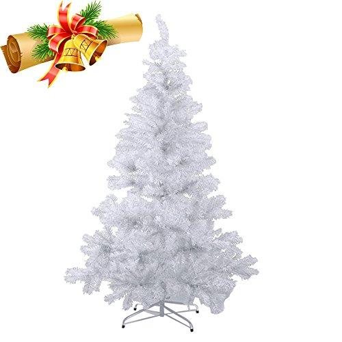 albero di natale bianco 240 cm MCTECH 240cm PVC Festive Artificial Christmas Tree Albero di Natale Bianco Decorazione Albero con Supporto (240cm)
