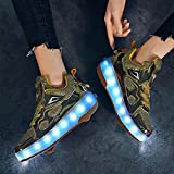 SHIXUE Zapatos con Ruedas Zapatillas con Dos Ruedas para niños y...
