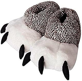 Zapatillas de andar por casa unisex de algodón con diseño de monstruo animal con garra de oso., 38-39