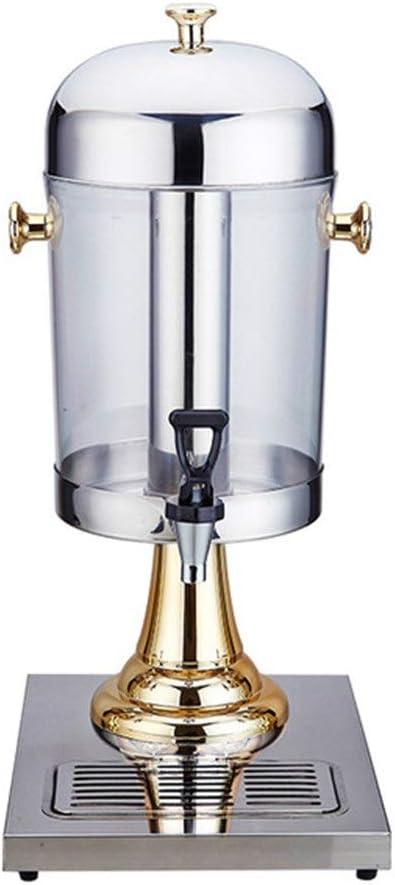 Ryyland-Home Jugo Dispensador Bebidas Transparente Cubo de un Cabezal dispensador de la Bebida con el Acero Inoxidable Grifo for el Agua Caliente y Bebidas frías dispensador de Bebidas