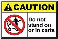 注意カートの上や中に立ってはいけませんブリキサインヴィンテージ面白い生き物鉄の絵金属板人格ノベルティ