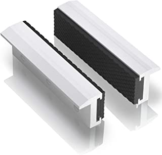 """TRISENSE Vise Jaw Covers,Aluminum Multipurpose 4""""Soft Vice Inserts-Use On Any Drill.."""