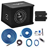 Skar Audio Single 8' Complete 700 Watt SDR Series Subwoofer Bass Package - Includes Loaded Enclosure with Amplifier