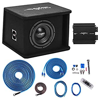 Skar Audio Single 8  Complete 700 Watt SDR Series Subwoofer Bass Package - Includes Loaded Enclosure with Amplifier