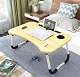 SEAFON Mesa Soporte para Laptop, Mesa para Cama (Madera Clara)