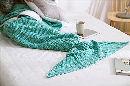 北欧シンプル尾びれひざ掛け人魚姫ブランケットエアコン防寒着る毛布誕生日プレゼント新婚祝い多機能